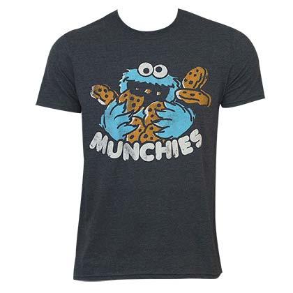Sesame Street Men's Grey Munchies T-Shirt