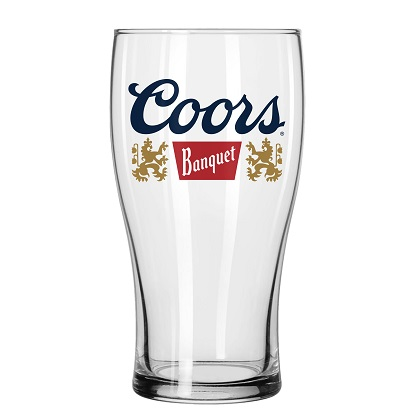 Coors Banquet Tulip Pint Glass