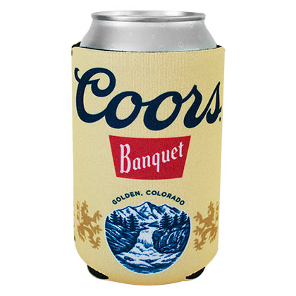 Coors Banquet Beer Can Cooler