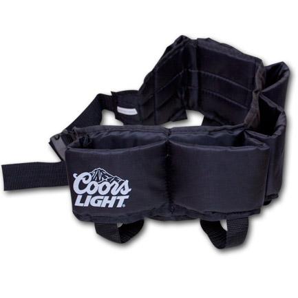 Coors Light Beer Beverage Can Holster Belt 6-Pack