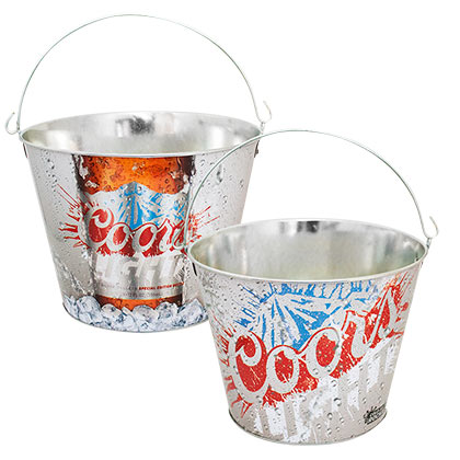 Coors Light Silver Beer Bucket