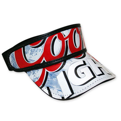 Coors Light Beer Box Visor Hat - FREE SHIPPING