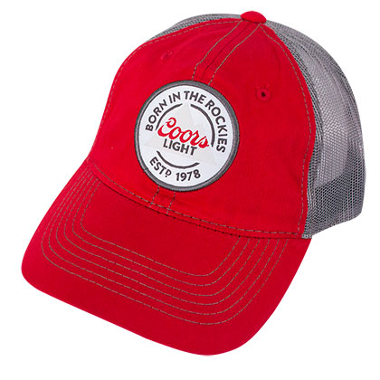 Coors Banquet Mesh Trucker Red Snapback Hat