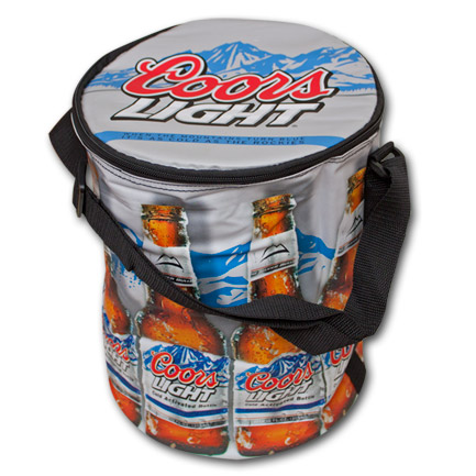 Coors Light Round Beer Cooler Bag