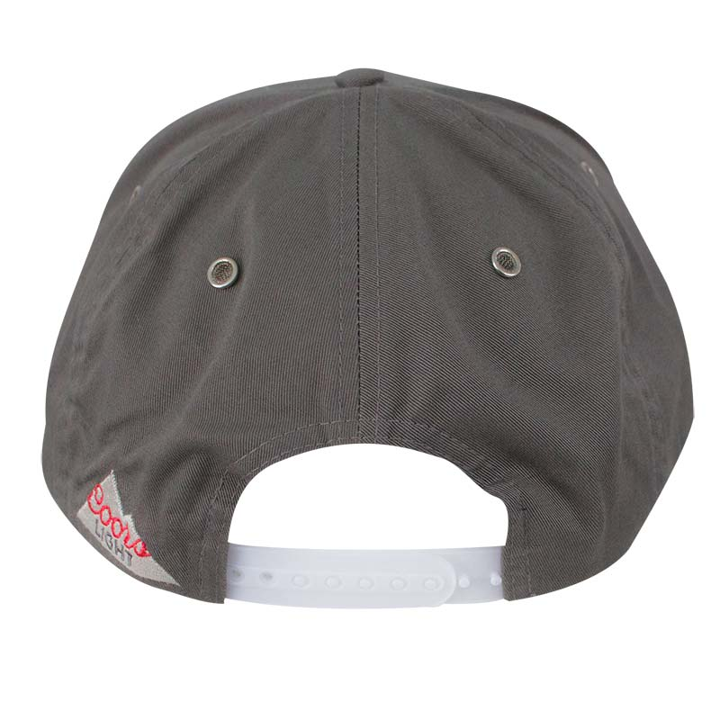 Coors Light Grey 5 Panel Snapback Hat