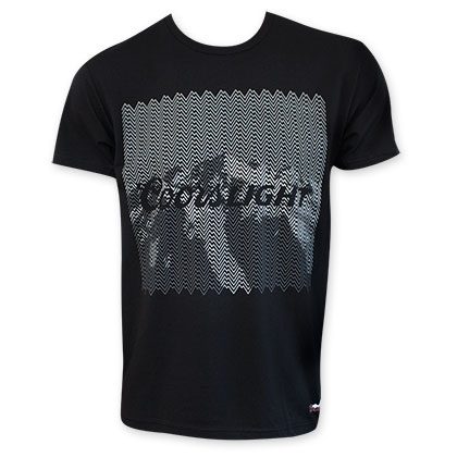 Coors Light Men's Grey On Black Tee Shirt