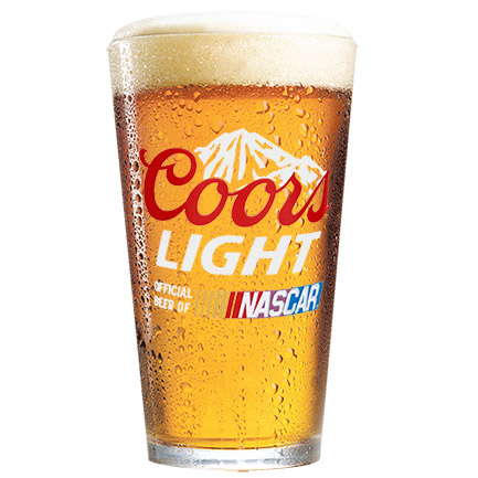 Coors Light Nascar Pint Glass