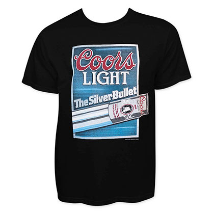 Coors Light Men's Black Silver Bullet T-Shirt