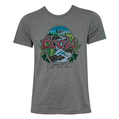 Coors Banquet Waterfalls Grey Men's T-Shirt