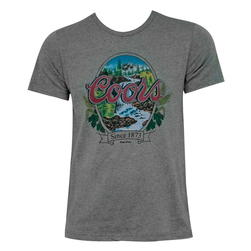 Coors Banquet Waterfalls Grey Men's T-Shirt