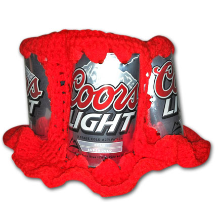 Coors Light Handmade Crochet Beer Can Hat - (FREE SHIPPING)