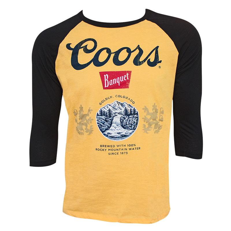 Coors Banquet Black and Gold Raglan Shirt