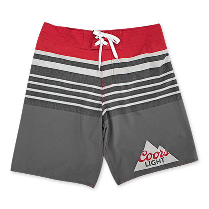 Coors Light Striped Board Shorts