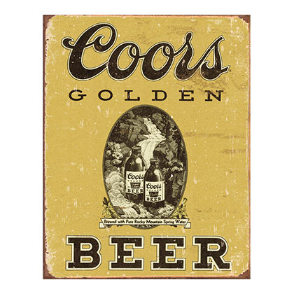 Coors Golden Beer Label Retro Tin Sign