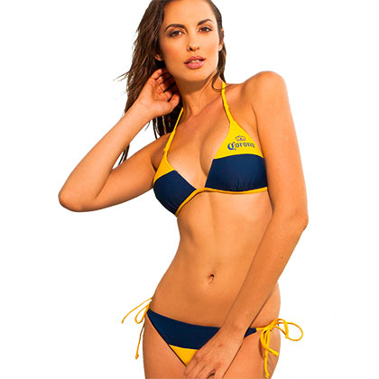 Corona Extra Women's Loop Knot Molded Triangle String Bottom Bikini