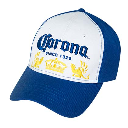 Corona Blue & White Baseball Hat