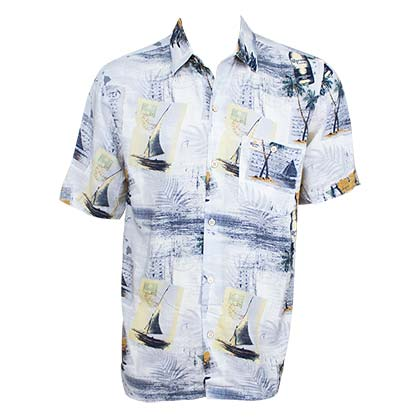Corona Extra Men's Sailboat Hawaiian Shirt