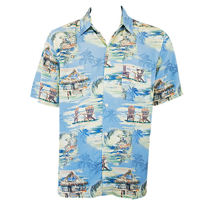 Corona Extra Men's Blue Hawaiian Shirt