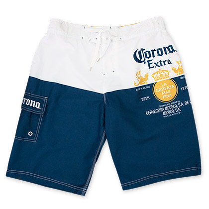 Corona Extra Label Mens Board Shorts