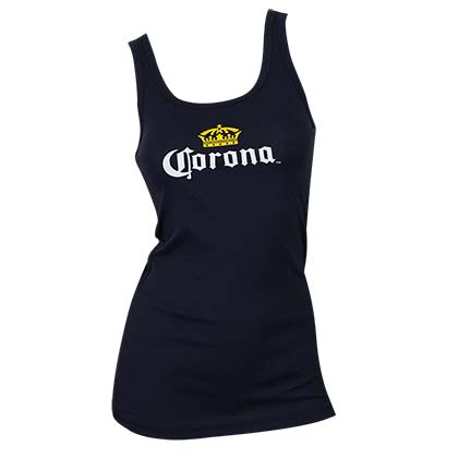 Corona Midnight Blue Women's Beer Logo Tank Top
