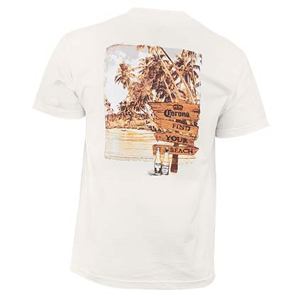 Corona Extra Men's Off White Find Your Beach T-Shirt