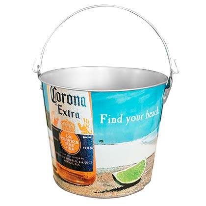 Corona Extra Beach Scene Beer Bucket With Built In Bottle Opener