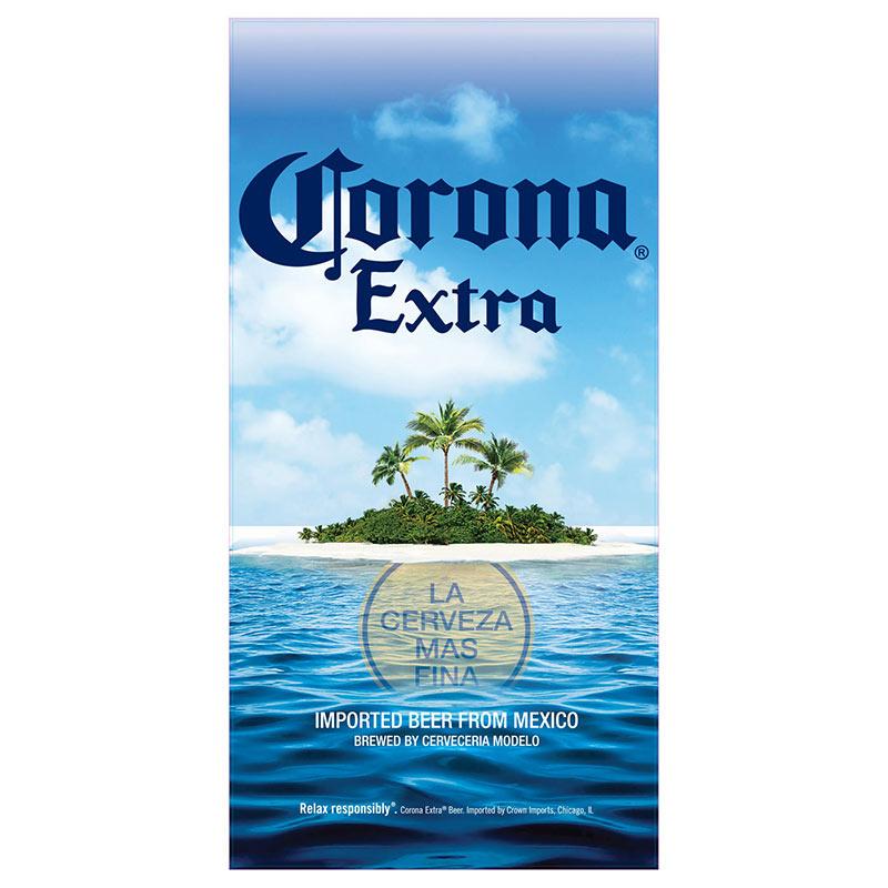 Corona Extra Beach Scene Beach Towel