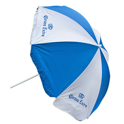 Corona Extra Nylon Aqua Sheen Beach Umbrella