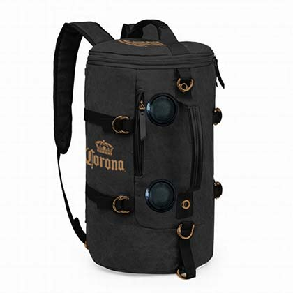 Corona Extra Black Cooler Backpack With Bluetooth Speakers