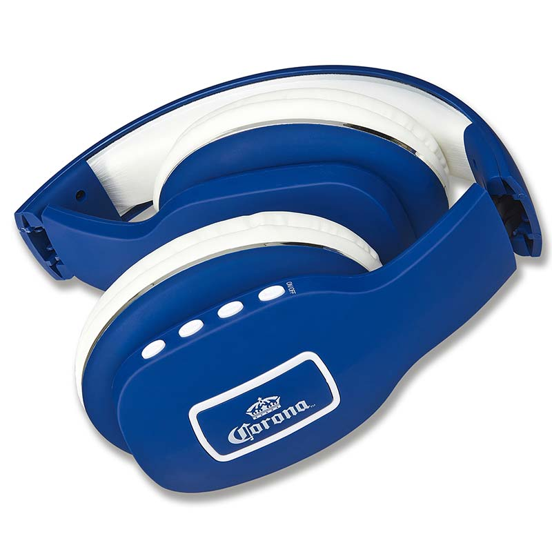Corona Wireless Bluetooth Blue Over Ear Headphones