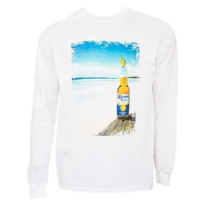 Corona Extra Men's White Beach Long Sleeve T-Shirt