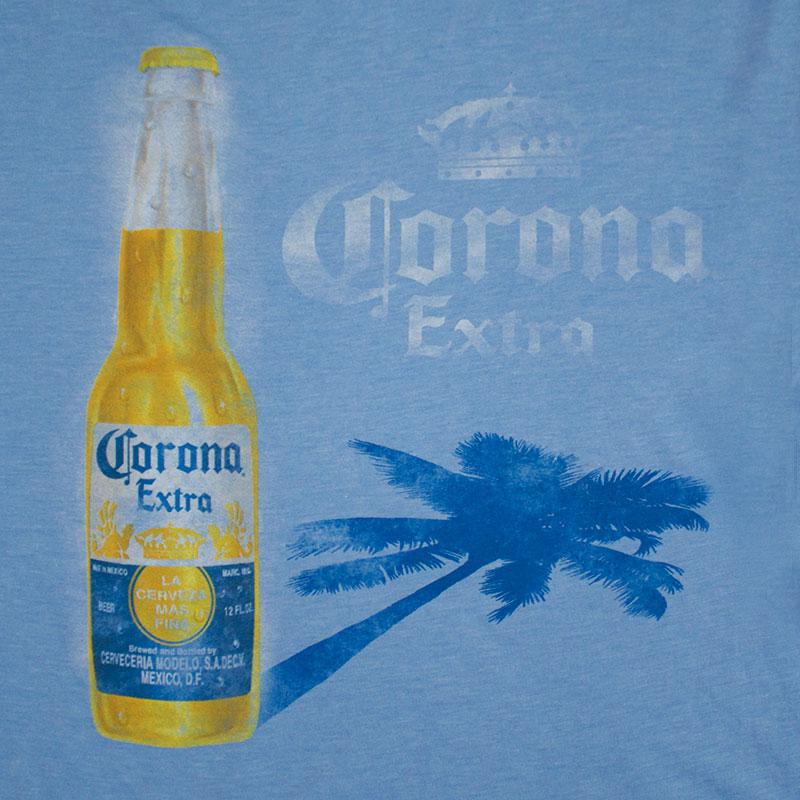 Corona Extra Men's Blue Shadow Tee Shirt