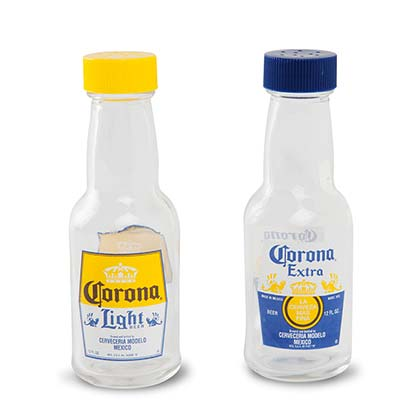 Corona Salt & Pepper Mini Bottle Shaker Set