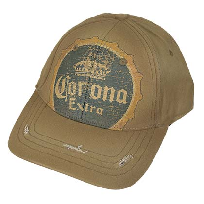Corona Extra Vintage Bottle Cap Tan Hat