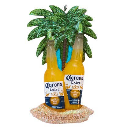Corona Extra Bottle Beach Ornament