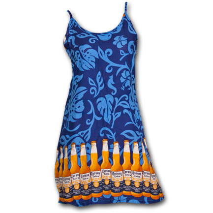 Corona Extra Bottles Womens Slip Rayon Beach Dress