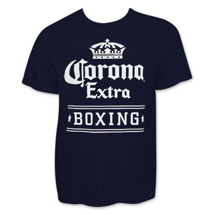 Men's Corona Beer Boxing Navy Blue T-Shirt