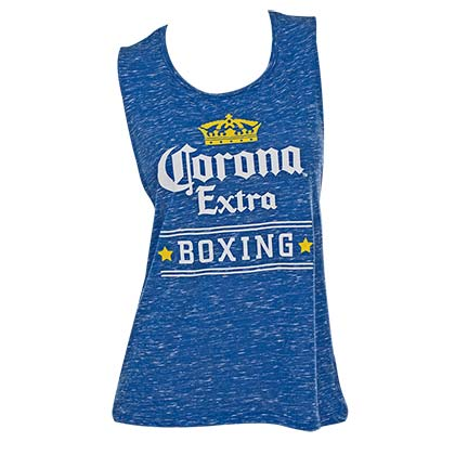 Women's Corona Extra Blue Boxing Tank Top