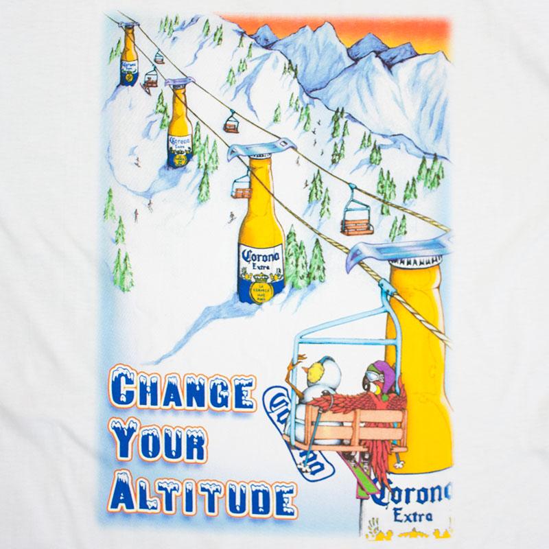 Corona Extra Men's White Brewski Altitude Tee Shirt