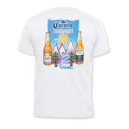 Corona Light Men's White Brewski Mountains T-Shirt