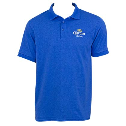 Men's Corona Beer Blue Polo Shirt