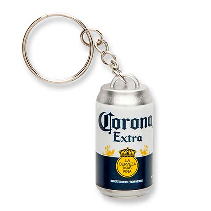 Corona Beer Can Keychain