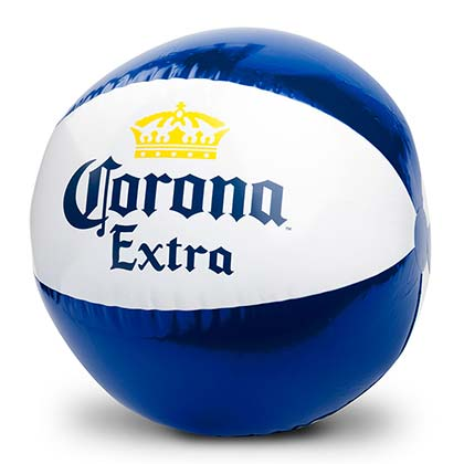 Corona Extra White And Blue Inflatable Beach Ball