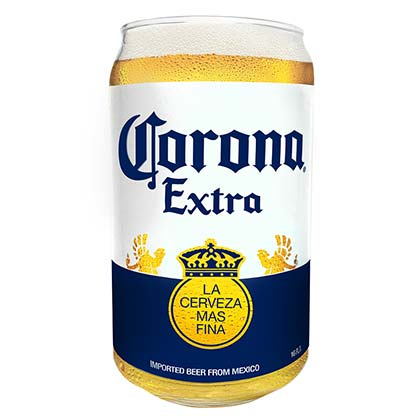 Corona Extra Bottle Label Pint Glass