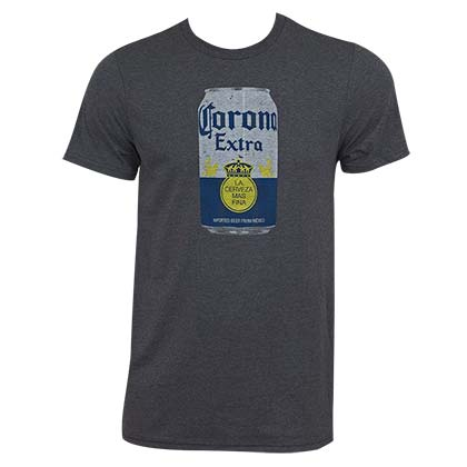 Men's Corona Beer Can Heather Grey T-Shirt