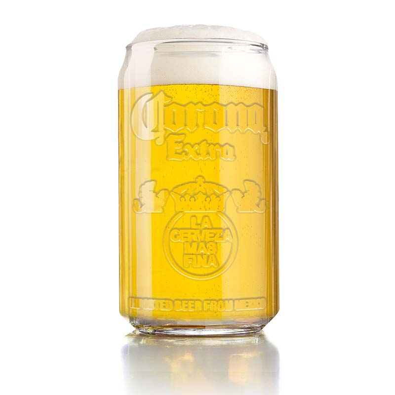 Corona extra imitation can embossed drinking glass for How to make corona glasses
