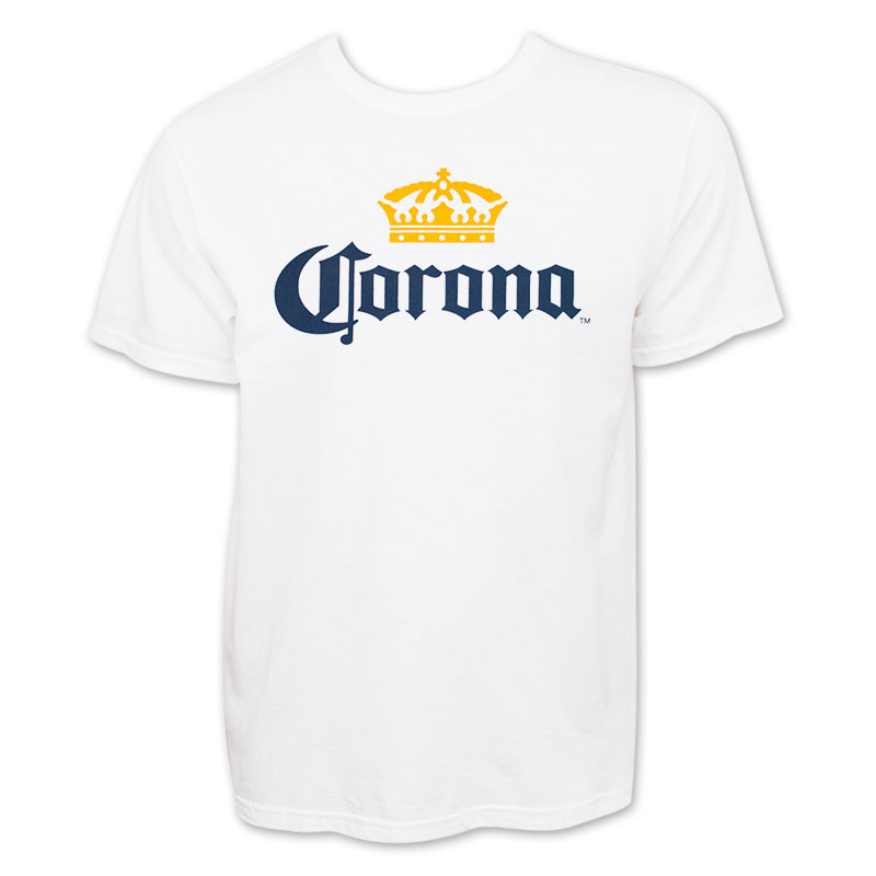 f2a3bb90d5a Corona Classic Logo New White Mens Shirt2 POP.jpg