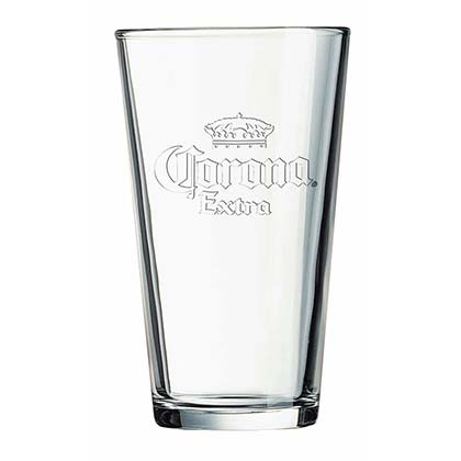 Corona Extra Clear Stamped Logo Pint Glass