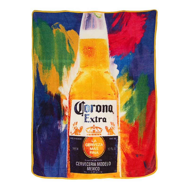 Corona Extra Flashback Tie Dye 40x60 Fleece Throw Blanket