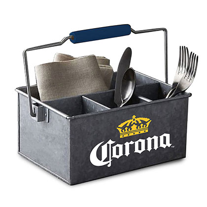 Corona Galvanitzed Condiment Holder